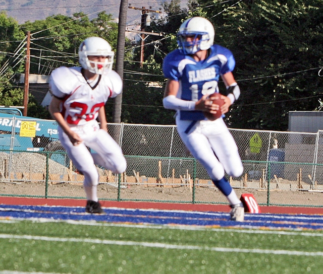 Corey Cole #19 had 2 quarterback sneak touchdowns.