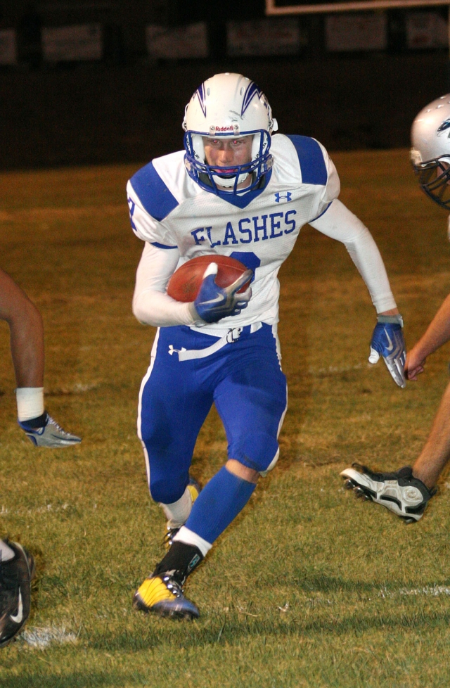 Ty Casey #2 rushed for a touchdown and had 8 tackles, 2 sacks and forced a fumble.