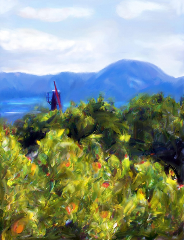 landscape, digital painting by Lois Freeman-Fox