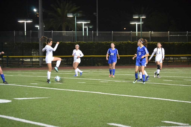 Thursday, January, 4th Fillmore Flashes Girls Soccer hosted Nordoff High. Flashes JV tied Nordoff 1-1, with alone goal made by Isabella Vaca. Flashes Varsity defeated Nordoff 2-0 with goals made by Andrea Marruffo and Jennifer Cruz. Goal Keeper Aaliyah Lopez had 5 saves for her second consecutive shut out. Next week the Flashes will take on Bishop Diego Thursday, January 11th 6:00pm at Fillmore High School. Stats and photos courtesy Coach Omero Martinez.