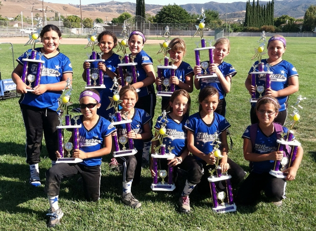 Congratulations to the FGS 8U All-Star team who came in 2nd place in the 9th Annual Amanda McPherson All-Star Tournament held in Simi Valley this past weekend.  They played with a lot of heart and held their 4-0 record before being defeated in the Championship game against West Valley.  They competed amongst 16 teams from all across Southern California. They will be playing in the District Tournament this weekend in El Rio. Special thanks to coaches Christy, Danny and Karen for all their hard work and dedication. Good Luck Fillmore! Pictured (Top row) Janeah Castro, Isabella Vaca, Siobhan Sandoval, Jamie Fontes, Jillian Morris, Jordan Blankenship. (Bottom:) Jordyn Walla, Emma Ocegueda, Precious Cervantes, Vanessa Cabral, Alyssa Ocegueda. (Not pictured) Aaliyah Arias