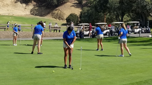 FHS hosted the second round of the Citrus View league girls golf and came away victorious beating everyone with a low score of 239. FHS was lead by Destiny Menjuga with a low score of 44. Fillmore is tied with Nordhoff at 9 points each going into Thursday's 3rd round match at the Seebee course in Hueneme. Submitted by Coach Dave MacDonald.