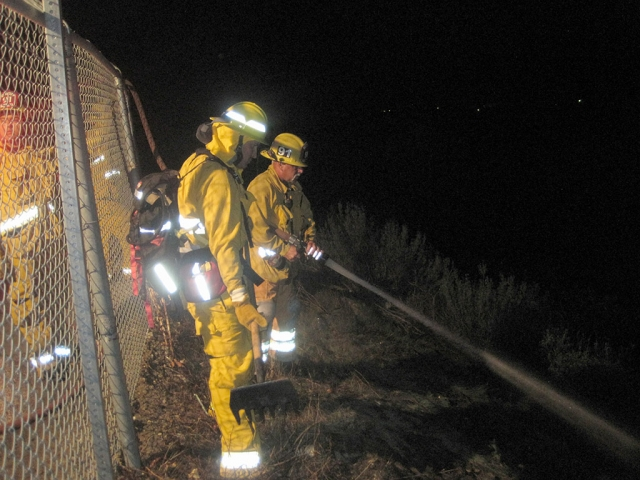On Tuesday April 15th Fillmore Fire Department responded into County area to a reported grass fire on Goodenough Rd. and Burson Rd. Upon arrival Fillmore fire units quickly extinguished a 10x10 spot fire on the hillside. No structures were involved and no injuries to report.