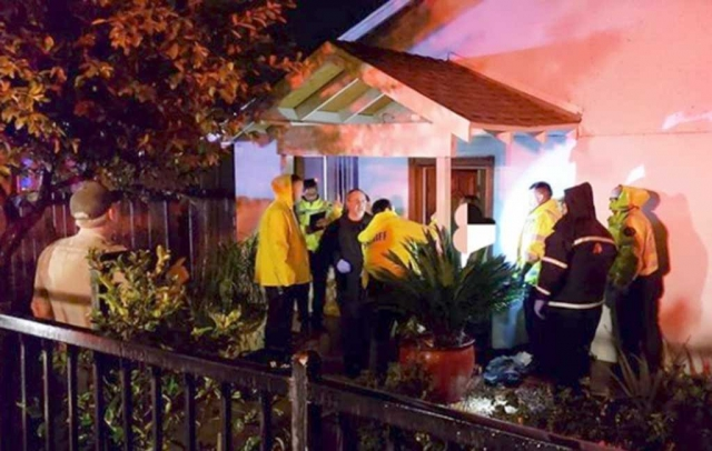 Wednesday, March 14th at approximately 10:00pm Fillmore Police and Fire departments responded to calls involving a possible gunshot victim at the 900 block of 4th Street in Fillmore. Photos courtesy Fillmore Fire Department.