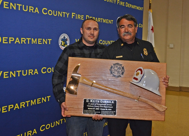 Keith Gurrola was honored at his retirement last Friday. He was the operations Chief for the Ventura County Fire Department. Keith was born and raised in Piru and according to all in attendance, is a great guy.