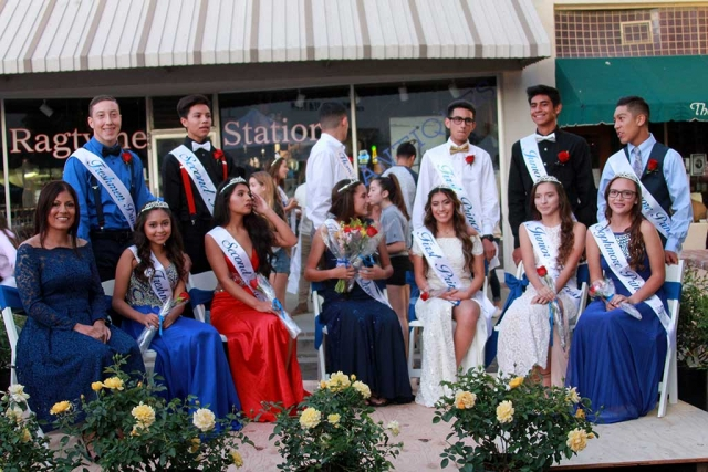 "(l-r) FHS Homecoming Grand Marshal Jennie Andrade, along with the FHS 2017 Homecoming Court Freshmen Princess & Prince Jose Scott & Leslie Ceja, 2nd Princess & Prince Abigail Bernabe & Ivan Zepeda, Queen & King Janaey Cadena & Christian Andrade, 1st Princess & Prince Alexsys Covarrubias & Michael Sanchez, Juniors Princess & Prince Julissa Martinez & Nick Villela, Sophomores Princess & Prince Alyssa Ibarra & Nick Herrera. The Fillmore Flashes hosted their 2017 Homecoming game against the Nordoff High School Rangers last week. As Fillmore tradition's will have it this past week at Fillmore High School was filled with tons of Homecoming activities; the Homecoming Dance which was held on September 16th, Dress up days, float building took place during the week September 17th to September 20th, and the Homecoming Parade was held on Thursday, September 21st at 6:30pm and took place on Central Avenue and downtown Fillmore. This year's Homecoming theme was Movies. 1st Place went to the Junior class, their float theme was ""Jurassic World,"" 2nd Place Sophmore class their float theme was ""Nacho Libre,"" 3rd Place Senior Class their float theme was ""Star Wars,"" 4th Place Freshman class their float theme was ""Ghost Busters."" Photos courtesy Crystal Gurrola."
