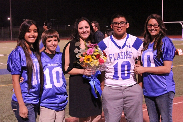Homecoming Grand Marshall Trina Tafoya and Family