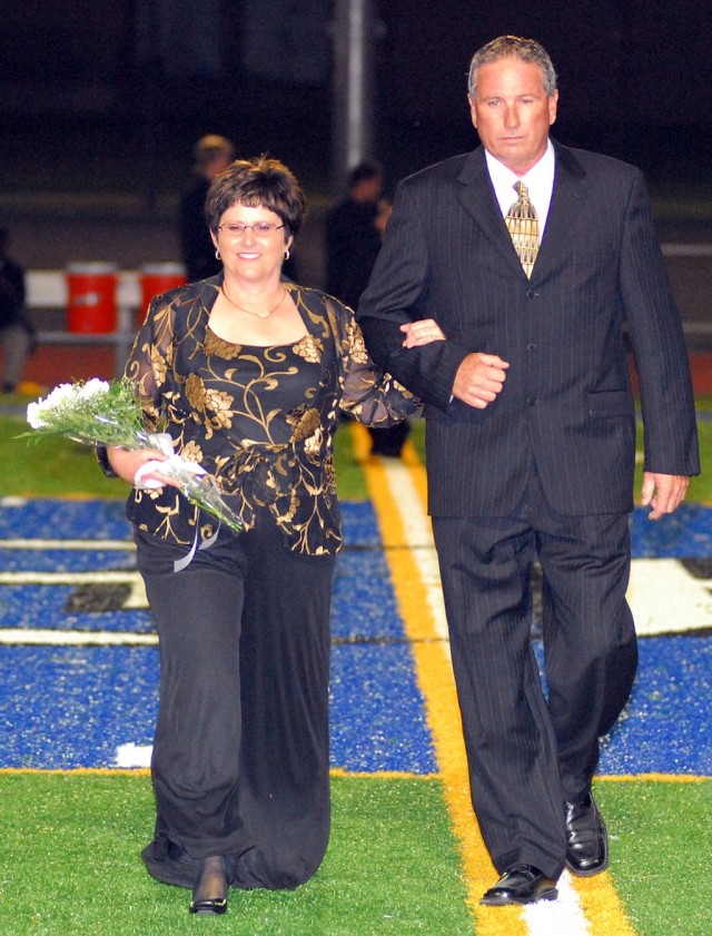 Barbara Lemons, escorted by husband Randy, was this year's Grand Marshall.