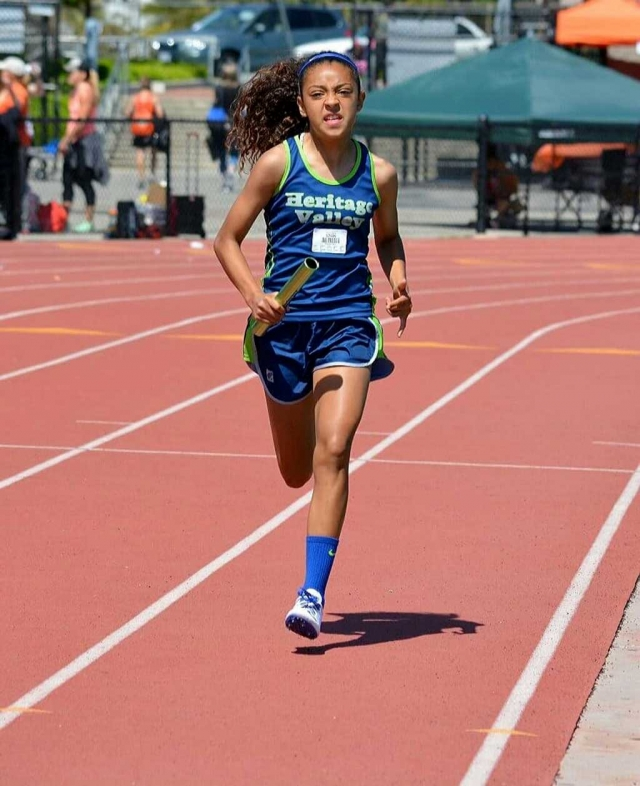 Alix Tirado took 1st in the 200m dash and 2nd in the 100m dash.