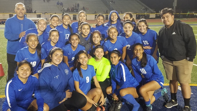 The Lady Flashes opened their season Tuesday, November 20th against Saint Bonaventure and came up short with a score of 8-0. Leading the way for the Flashes was Junior Stiker Ana Covarrubias with 3 goals, Alexis Velasco, Jennifer Cruz, Arianna Ocegueda each had a goal and Aaliyah Lopez had two goals. The defense played great only allowing 3 shots on goal. Sadie Rico and Ashley Yepes combined for the shut out. Pictured are the Lady Flashes after their first game of 2018 season. Submitted by Coach Homer Omero.