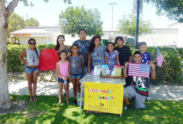 Entrepreneurship was alive and well Monday during the recent heat wave. A lemonade stand set up by these young capitalists was in demand from traffic coming off Grimes Canyon Road. By 2:00pm they had already made about $30.