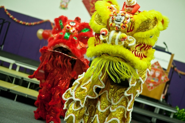Lion Dance. Photo credit: Brian Stethem/CLU