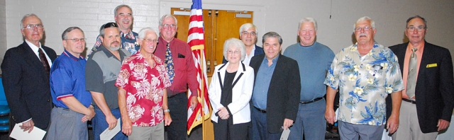 Pictured (in no order) and acknowledged are some of the people who make up Fillmore Lions Club a success, including Bill Dewey, Bill Edmonds, Joe Woodruff, Scott Lee, Paul Schifanelli, Melvin Jones, Ron Smith, Jim Austin, Sean and April Hastings, Walk Gonzales, Jack Stethem, and Mary Tipps.