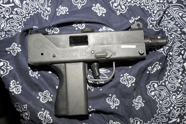Mac 12 machine pistol.