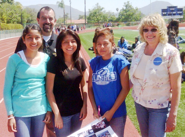 Shown above: Participating in the Make a Wish event were (l-r) Clarisa Martinez, John Wilber, Tania Morales, Aime Lopez, and a Make-A-Wish Representative.