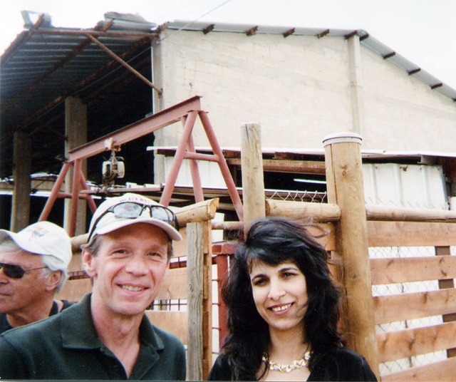 Author Mark Trimble is shown with Nitsana Darshan-Leitner, Iranian born citizen who is the founder of Shurat HaDin (Israel Law Center).