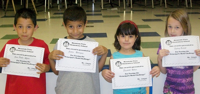 1st Grade – Juan Pablo, Justice, Elizabeth, and Sydney (not pictured, Angelina) were the 1st grade recipients.