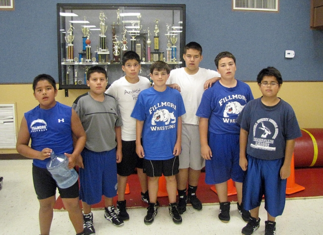 (l-r) Adrian Bonilla (4-0), Abraham Cervantes (1-1), Andrew Perez (4-1), Ian Overton (3-1), David Estrella (1-1), Jake Palacio (1-1), Juan Perez (1-1), and not pitured is Johnny Martinez (1-1)