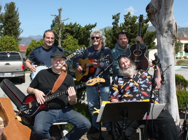 On Saturday, March 27th John Tunis and the Band hosted their first 'outdoor' parking lot performance at Fillmore's Greenfield Care Center for the residents to enjoy during these hard times. Pictured above are band members Bruce Johnson, Mal Stich, Garr Wharry, Greg Agostinelli, and John Tunis. Photos Courtesy John Tunis.