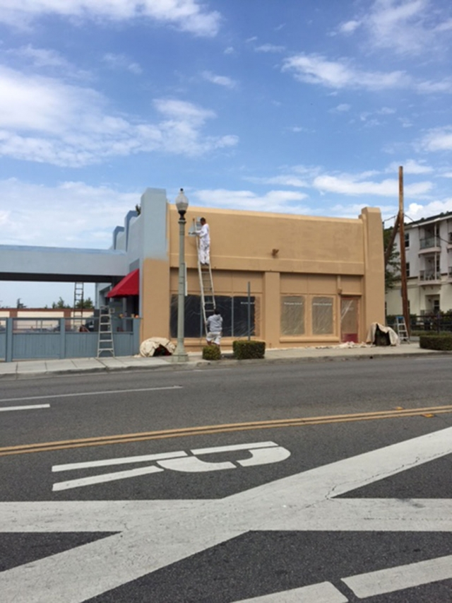 The vacant Wm Morris owned building on Central Avenue, across from Fillmore City Hall, received a fresh coat of paint this week. The drab blue building was painted in the tan/beige range, in keeping with the Central Avenue theme. The property has housed a now-defunct newspaper, a BBQ place, H&R Block, an upscale restaurant, and a railroad eatery in the last few years.