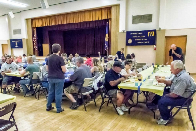 Fillmore FFA held its 4th Annual May Festival Pancake Breakfast Saturday, May 21st from 7:00 - 9:30am at the Fillmore Veterans Memorial Bldg. Many Fillmore residents came to enjoy the breakfast. Photos courtesy Bob Crum.