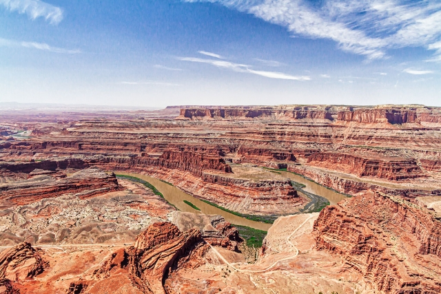 "Photo of the Week: ""Canyonlands National Park, Utah"" by Bob Crum. Scene from Dead Horse State Park vista. Photo data: Canon 7DMKII, Av mode, Tokina 11-16mm lens with polarizer filter @14mm, ISO 320, aperture f/11, 1/250 second shutter speed."