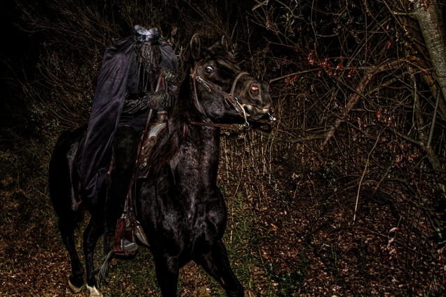 "Photo of the Week: ""The Headless Horseman rides on Halloween night!"" by Bob Crum. Photo data: Canon 7D, Canon EFS 15-85mm lens @ 21mm, Exposure; aperture f/4.0, 1/45 seconds shutter speed."