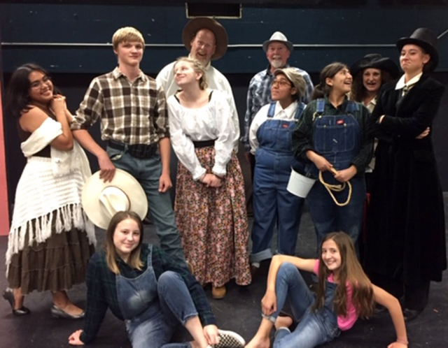 "Pictured above is the cast of Fillmore High School's Drama Production for this year's play ""Trouble in Dustville"" opening November 2nd. Photos courtesy Joe Woods."