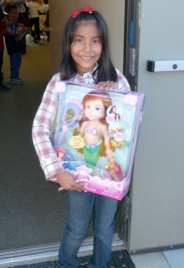 Bethany was very happy for her gift.