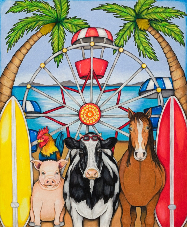 Pictured is the first place winner of this year's 10th Annual Ventura Country Fair Poster Contest which was won by Daríanna Vásquez of Santa Paula.
