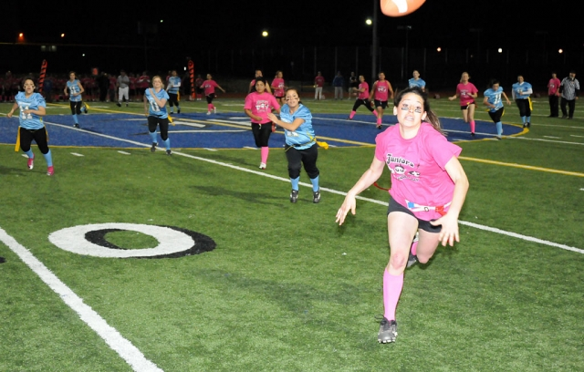 Fillmore High School held the Annual Powder Puff game between the Juniors and the Seniors last Friday night.