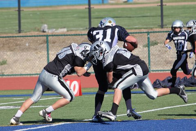 The Fillmore Raiders Senior team and the J-2 both won their first round of play-offs last Saturday. The Senior's beat Saugus 38-0 and will play away against Grace Brethern, Saturday November 3rd. J-2's beat Westlake 30-0 and will play at home this Saturday 2:00 p.m. against Crown Valley. Photos courtesy of Crystal Gurrola.