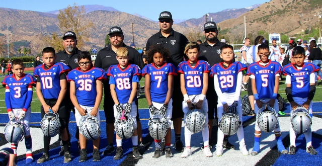 This past Saturday, November 23rd, the Fillmore Raiders hosted the East vs. West Youth Football games. The Fillmore High School football stadium was filled with kids from all over the county who came out to compete. The Fillmore Raiders had coaches and players participate in all six games which were held this year. Pictured above are some Mighty Mites players who represented for the Fillmore Raiders in the East vs. West game this past weekend. Photos courtesy Crystal Gurrola.