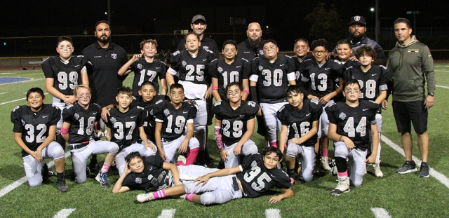 Congratulations to the Fillmore Raiders Sophomore football team who finished their regular season undefeated this past Saturday with a record 7 – 0. Photo courtesy Crystal Gurrola.