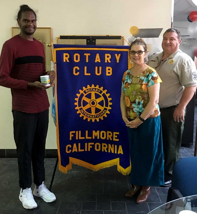 Fillmore Rotary Welcome Exchange Student. Josh Cox, our Rotary Exchange student, from Australia, presented a program on his family and country.