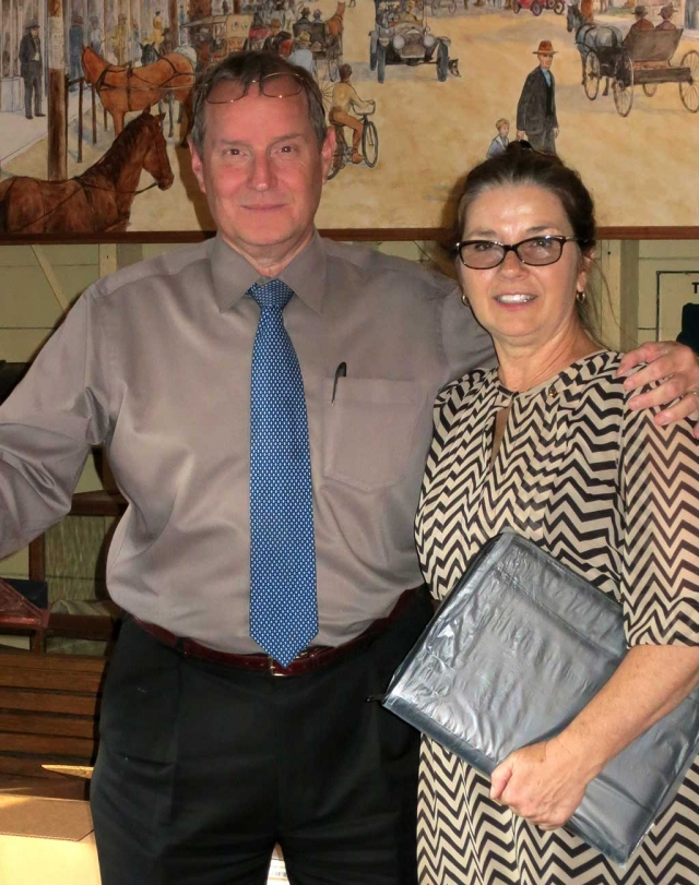 Kyle Wilson steps down as President of the Rotary Club of Fillmore and Julie Latshaw begins the year ahead.