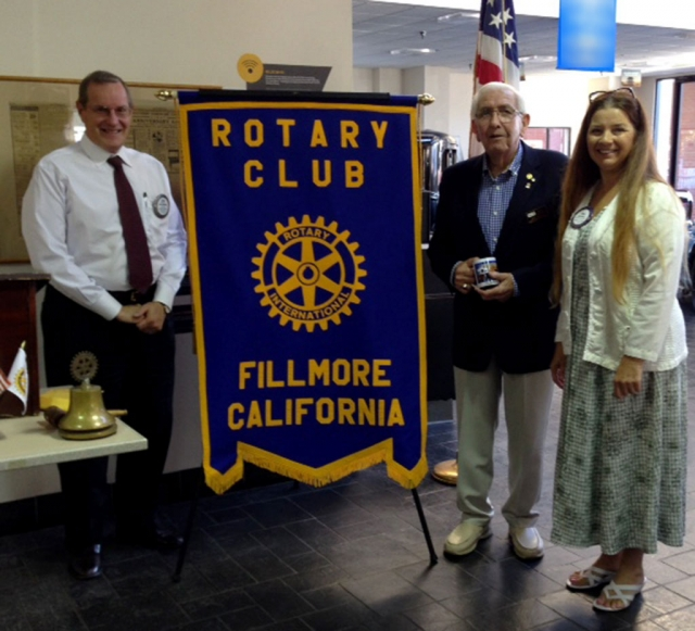 Kyle Wilson Club President, Jack Tingstrom guest speaker and Rotary Practical Relevant Leadership Skills Director with Julie Latshaw Program Chair.