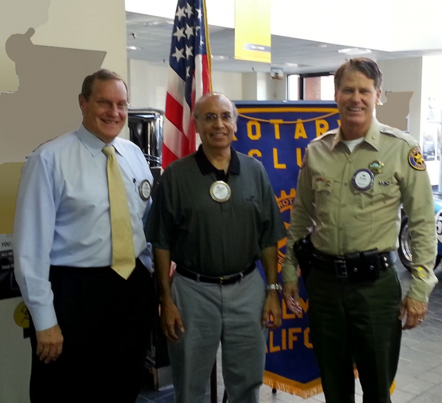 (l-r) Kyle Wilson, President, Joe Aguirre, Program Director and Commander Tim Hagel