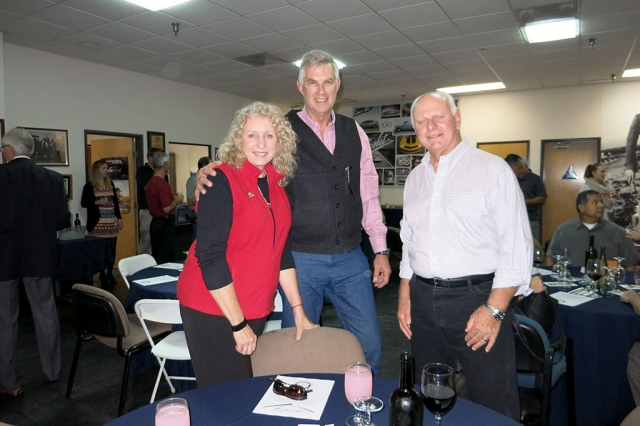 The Rotary Club of Fillmore celebrated their annual Christmas Party on December 10. Viki and Ed McFadden and Dick Richardson enjoying the Christmas party.