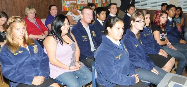 Members of Fillmore's FFA were recognized for winning many awards at the County Fair.