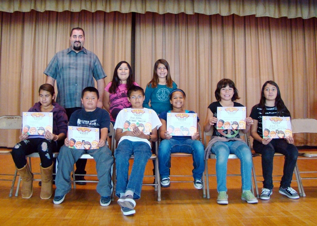 Todd Schieferle with Character Counts Award recipients from San Cayetano School.