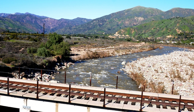 The mighty Sespe River is roaring again after weeks of rainfall in Ventura County. The mountains surrounding Fillmore are green and lush with the recent precipitation.