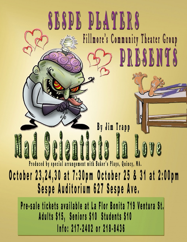 Sespe Players production of Mad Scientists in Love.