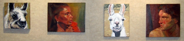 Small paintings by Irena Jablonski and Mary-Jo Murphy.