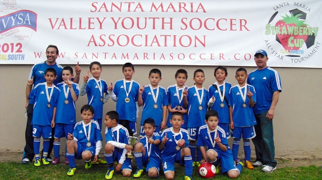 "Fillmore Dream (Boys 10 )Soccer Team ""DID IT AGAIN"" winning the CHAMPIONSHIP in Santa Maria the weekend of the 14th. The team went undefeated winning the championship against Santa Maria 6-1. The Team has been invited to a Galaxy game where they will be recognized as Champions and also have the opportunity to walk around the Galaxy stadium. WAY TO GO FILLMORE BOYS! Pictured: Coaches: Sal Navarro & Juan Cruz. Players: Reny Navarro, Luis Sosa, Juan Rodriguez, Yobany Figueroa, Sergio Ramos, Mathew Hernandez,Octavio Rodriguez, Brayan Arevalo, Eric Torres, Jonathan Perez, Cesar Lopez, Carlos Vargas, Jose Gallegos, Brayan Ramos and Marcos Cardenas."