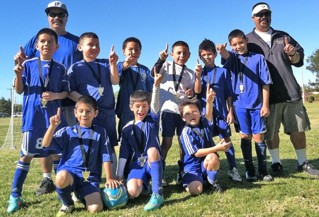 Fillmore Soccer U-8 played in an Oxnard tournament the weekend of January 19th. Fillmore took First Place. Pictured but not in order are: Angel Castorena, Ivan Becerra, Alfredo Cardenas. Dante Reyes, Diego Alcaraz Armando Manriques, bottom row Mathew Magana, Jathan Magana, Adrian Vasquez. Not pictured:Julio Negrete, Sebastian Navarete. Coaches: Joe & Damian Magana.