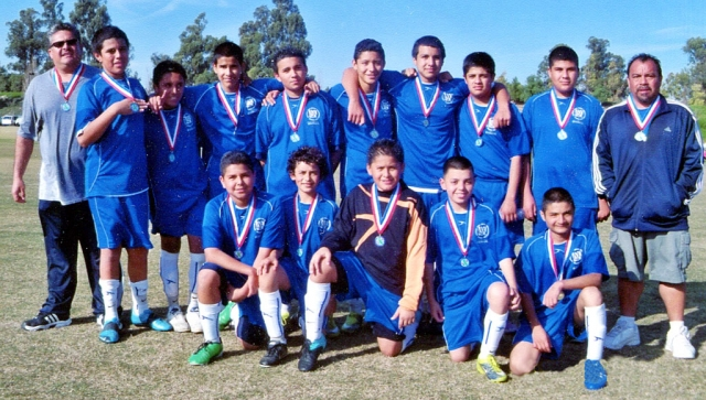 Congratulations to the Fillmore All-Star Boy's U-14, for winning the Championship for league All-Star Playoffs. The boys will now go to Bakersfield to represent Ventura/Santa Barbara County in March. Pictured above top row: Assistant Coach Cipriano Martinez, players: Ricardo, Govani, Andy Jr., Miguel, Jason, Luis, Juan, and Coach Gonzalo Martinez. Bottom Row: Jose, Rigo, Emilio, Cristobal, and Arturo.  Good Luck!