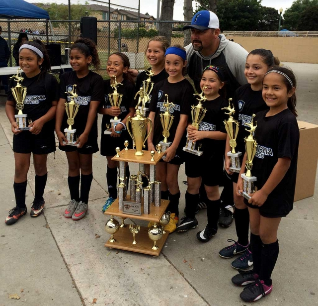 (l-r) Lexis Piña, Jadon Rodriguez, Victoria Piña, Makayla Mckenzie, Brooke Nuñez, Karissa Terrazas, Jessica Rodriguez and Victoria Lopez. Coach: Lomeli. Naomi Tobias and Ella Navarette are not pictured.