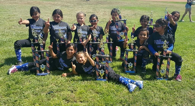 Fillmore Softball Girls 8U Division won 1st place in Thousand Oaks Championship 2016 Memorial Day Tournament. Pictured are Viviana, Ebony, Nakaomi, Delaney, Sophia, Leah, Arianna, Leilani, Natalie, Haley, and Livia.