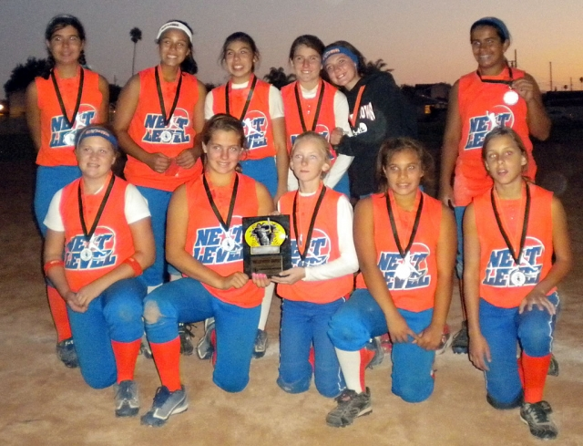Local 12U fastpitch travel team NEXT LEVEL took 2nd Place at the Halloween Havoc Tournament, a USSSA World Series Qualifier, in Oxnard this past weekend. The team is now qualified for the USSSA World Series in 2011. Pictured (back row) Bailey Huerta, Marissa Ramos, Leah Meza, Tatyanah Castillo, Ciara Vente, Sierra Huerta; (bottom row) Karissa Ibarra, Macie Wokal, Tayor Brown, Arianna Rivas, Sonya Gonzales.